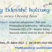 Dny židovské kultury v Uherském Brodě 2012