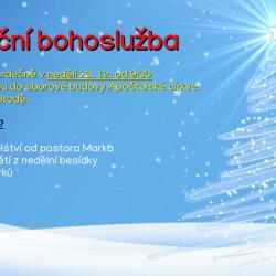 Vánoční bohoslužba 2018